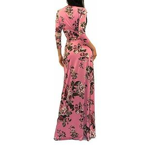ff0fad278cc Vivicastle Dresses - Vivicastle Women s Printed V-Neck 3 4 Sleeve Faux